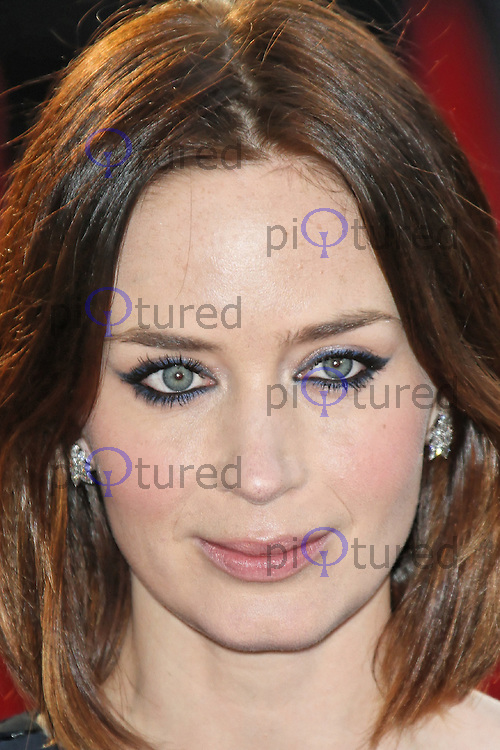 LONDON - APRIL 10: Emily Blunt attends the European Film Premiere of 'Salmon Fishing In The Yemen' at the Odeon, Kensington High Street, London, UK. April 10, 2012. (Photo by Richard Goldschmidt)