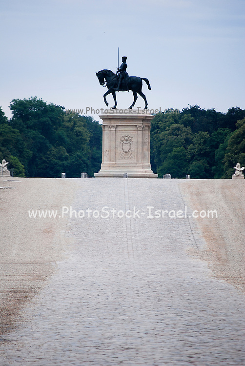 France, Chantilly, Château de Chantilly, the equestrian statue of Anne de Montmorency