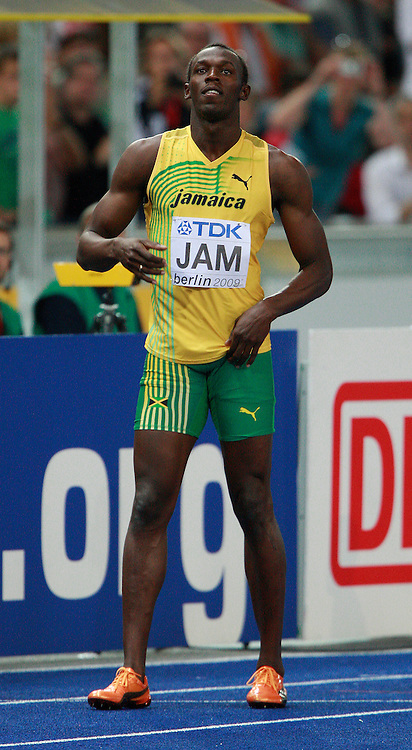Berlin 2009 World Championships - August 22 - Day 8 - Evening Session *** Local Caption *** Usain Bolt - Jamaica 4x100m Relay