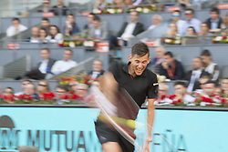 May 11, 2018 - Madrid, Madrid, Spain - DOMINIC THIEM in a match against RAFAEL NADAL during the quarter finals of Mutua Madrid Open 2018 - ATP in Madrid. DOMINIC THIEM won the match 7-5(3) 6-3. (Credit Image: © Patricia Rodrigues via ZUMA Wire)