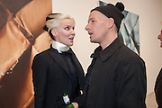 DAPHNE GUINNESS; PAUL ROWE, This is not an Exit. Mat Collishaw. Blain Southern. Hanover Sq. London. 13 February 2013.