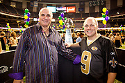 Tommy Cvitanovich with Rep. Steve Scalise and the Lombardi trophy; U.S. Rep. Steve Scalise's kick off party for the 2012 Washington Mardi Gras in the Louisiana Superdome honoring King Tommy Cvitanovich and Queen Jayne Champagne