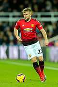 Luke Shaw (#23) of Manchester United during the Premier League match between Newcastle United and Manchester United at St. James's Park, Newcastle, England on 2 January 2019.