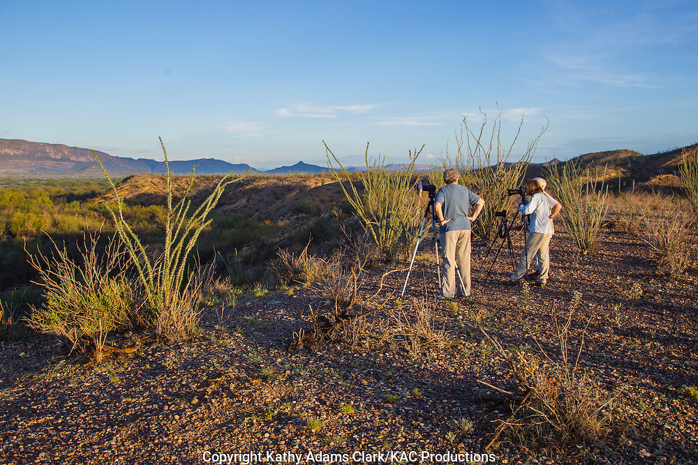 Photographers on workshop in Big Bend National Park, September 2014