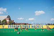 The women's field hockey game between the Central Michigan Chippewas and the Vermont Catamounts at Moulton/Winder field on Friday afternoon August 26, 2016 in Burlington, Vermont.