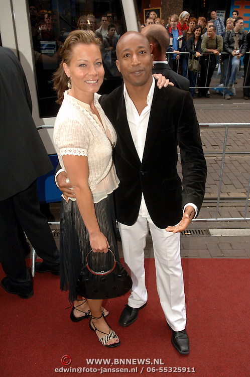 NLD/Amsterdam/20060626 - Premiere Over the Edge, Marilou le Grand en Raymond Sambo