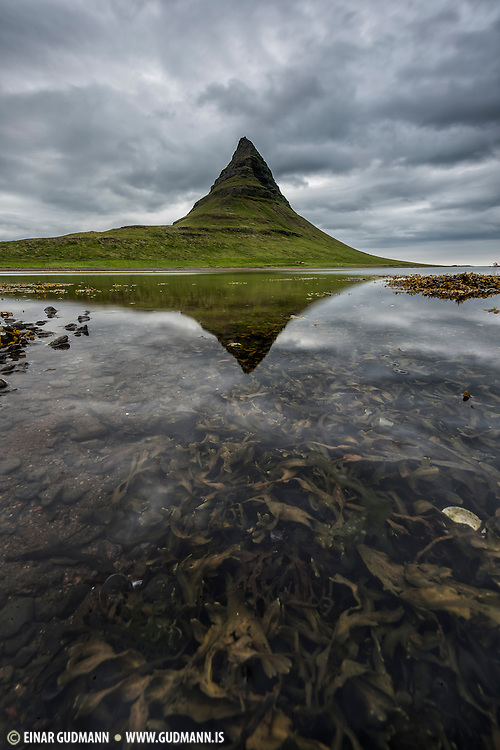 Kirkjufell is one of the most magnificent mountains in Iceland. Near Grundarfjörður.