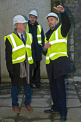 Pictured: Kevin Stewart was shown features to be completed by September this year by Keith Mackie of the Chris Stewart Group, developers of the project.<br /> When visiting Greenside House, a newly redevolped 36,000 square feet of Grade A office accommodation, in Edinburgh today  Housing minister Kevin Stewart unveiled details of an GBP8.9 million award to refurbish office space.<br /> <br /> Ger Harley | EEm 28 February 2017