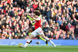 David Luiz of Arsenal tackles Lys Mousset of Sheffield United - Mandatory by-line: Arron Gent/JMP - 18/01/2020 - FOOTBALL - Emirates Stadium - London, England - Arsenal v Sheffield United - Premier League