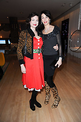 Left to right, JASMINE GUINNESS and ASSIA WEBSTER at The Rodial Beautiful Awards in aid of the charity Kids Company held in the Billiard Room at The Sanderson, 50 Berners Street, London on 3rd February 2010.