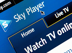 Detail of screen shot from website of Sky TV Player