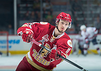 REGINA, SK - MAY 20: Mitchell Balmas #11 of Acadie-Bathurst Titan warms up against the Regina Pats at the Brandt Centre on May 20, 2018 in Regina, Canada. (Photo by Marissa Baecker/CHL Images)