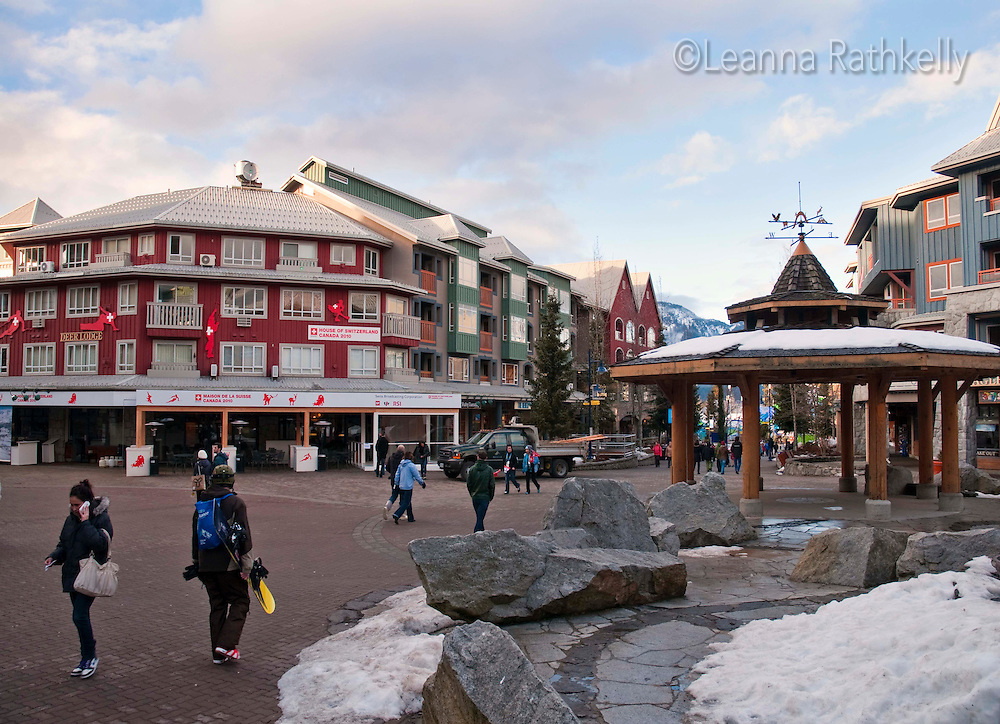 The Mountain Club restaurant in Whistler, BC Canada becomes the House of Switzerland for the 2010 Winter Olymic Games.