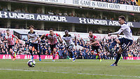 Football - 2016 / 2017 Premier League - Tottenham Hotspur vs. Southampton<br /> <br /> Dele Alli of Tottenham strikes home from the penalty spot at White Hart Lane.<br /> <br /> COLORSPORT/DANIEL BEARHAM