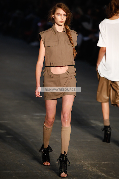 Auguste Tomasuite walks the runway wearing Alexander Wang Spring 2010 collection during Mercedes-Benz Fashion Week in New York, NY on September 11, 2009