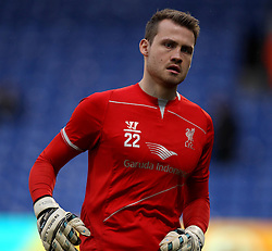 Liverpool's Simon Mignolet warms up - Photo mandatory by-line: Robbie Stephenson/JMP - Mobile: 07966 386802 - 14/02/2015 - SPORT - Football - London - Selhurst Park - Crystal Palace v Liverpool - FA Cup - Fifth Round