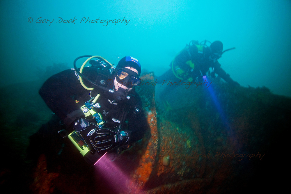 LOCHALINE DBS STAFF TRIP.Divers on the wreck of the Hispania, Sound of Mull..