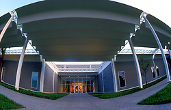 Stock photo of the entrance to the Menil Collection in Houston Texas