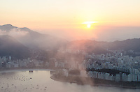 View from Sugarloaf at sunset.  Rio de Janeiro, Brazil.