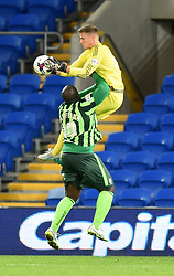 Ben Wilson of Cardiff City saves the ball - Mandatory by-line: Paul Knight/JMP - Mobile: 07966 386802 - 11/08/2015 -  FOOTBALL - Cardiff City Stadium - Cardiff, Wales -  Cardiff City v AFC Wimbledon - Capital One Cup