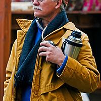 September 2008 Montevideo Uruguay - Uruguayan man drink mate