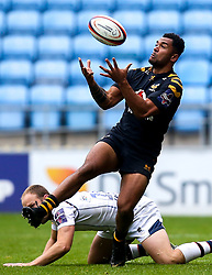 Zach Kibirge of Wasps catches the ball - Mandatory by-line: Robbie Stephenson/JMP - 12/10/2019 - RUGBY - Ricoh Arena - Coventry, England - Wasps v Worcester Warriors - Premiership Rugby Cup