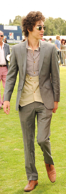 Robert Sheehan  at the Cartier International Polo at Guards Polo Club, Windsor Great Park, Berkshire on 25th July 2010.