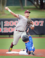 Holy Cross second baseman James Papeika #44 forces out Gill St. Bernard's James Raia #16 in the seventh inning of the NJSIAA South Jersey Non-Public B championship baseball game Tuesday June 7, 2016 at Rutgers University in Piscataway, New Jersey. Holy Cross defeated Gill St. Bernard's 4-3. (Photo by William Thomas Cain)