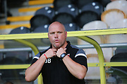 Morecambe manager Jim Bentley during the EFL Cup match between Burton Albion and Morecambe at the Pirelli Stadium, Burton upon Trent, England on 27 August 2019.