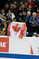 KELOWNA, BC - OCTOBER 26: Fans during medal ceremonies of Skate Canada International held at Prospera Place on October 26, 2019 in Kelowna, Canada. (Photo by Marissa Baecker/Shoot the Breeze)