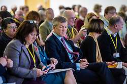 Pictured: Willie Rennie checks Jo Swinton's conference notes<br /> The Scottish Liberal Democrats stalwarts gathered today in Dunfermline for their Autumn Conference<br /> <br /> Ger Harley | EEm 11 November 2017