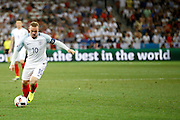 England Forward Wayne Rooney during the Round of 16 Euro 2016 match between England and Iceland at Stade de Nice, Nice, France on 27 June 2016. Photo by Andy Walter.