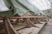 restaurering af audiensgang på Frederiksborg Slot, svampeskader