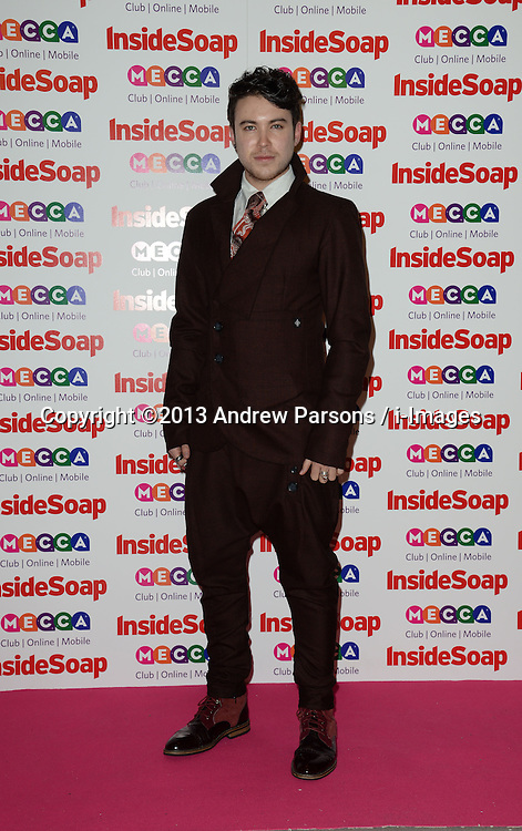 Inside Soap Awards.<br /> Carl Au arrives for the Inside Soap Awards, Ministry of Sound, London, United Kingdom,<br /> Monday, 21st October 2013. Picture by Andrew Parsons / i-Images