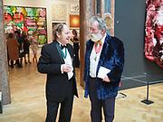 RICHARD WILSON; TOM PHILLIPS, Royal Academy of Arts Annual Dinner. Burlington House, Piccadilly. London. 6 June 2017