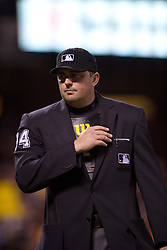 SAN FRANCISCO, CA - APRIL 18:  MLB umpire Lance Barrett #94 stands on the field during the seventh inning between the San Francisco Giants and the Arizona Diamondbacks at AT&T Park on April 18, 2015 in San Francisco, California.  The San Francisco Giants defeated the Arizona Diamondbacks 4-1. (Photo by Jason O. Watson/Getty Images) *** Local Caption *** Lance Barrett