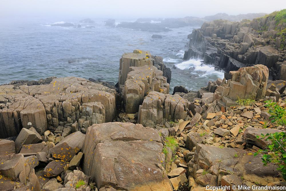 Basalt rock on Bay of Fundy<br /> Brier Island<br /> Nova Scotia<br /> Canada