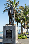 Statue honoring General Heriberto Jara Corona along the Malecon in the historic center of the city of Veracruz, Mexico. Corona was a Mexican revolutionary and former Mexican President.
