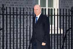 © Licensed to London News Pictures. 30/01/2018. London, UK. Transport Secretary Chris Grayling arriving in Downing Street to attend a Cabinet meeting this morning. Photo credit : Tom Nicholson/LNP