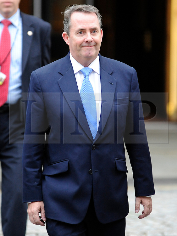 © Licensed to London News Pictures. 05/10/2011. MANCHESTER. UK. The Rt Hon Liam Fox, Secretary for Defence at The Conservative Party Conference at Manchester Central today, October 5, 2011. Photo credit:  Stephen Simpson/LNP