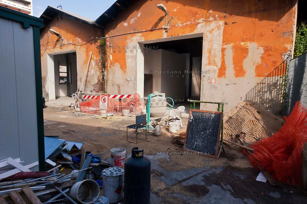 Roma 16 Ottobre 2012.Nuovo Cantiere Caritas  in Via Casilina Vecchia, 19