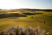 #14 Green with Pin Setters (greens keepers), Bandon Dunes Golf Resort, Bandon Oregon