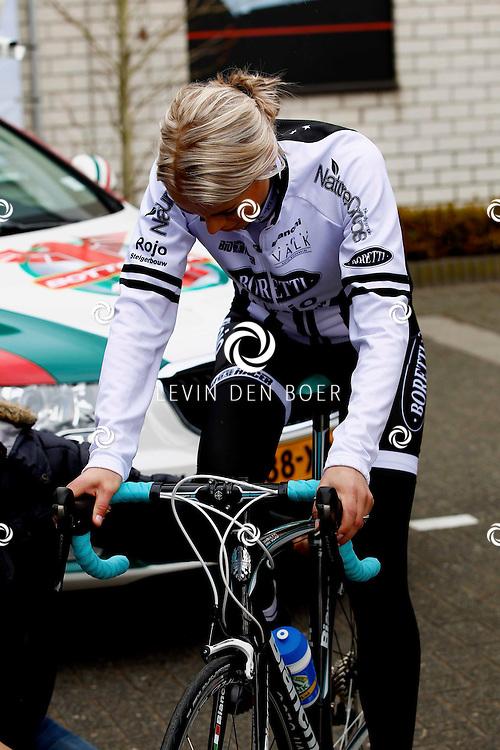AMSTERDAM - Bij de hoofdsponsor Boretti is het nieuwe Sterrenfietsteam voor 2013 bekend gemaakt. Met op de foto  Sabine Vas Nunes. FOTO LEVIN DEN BOER - PERSFOTO.NU