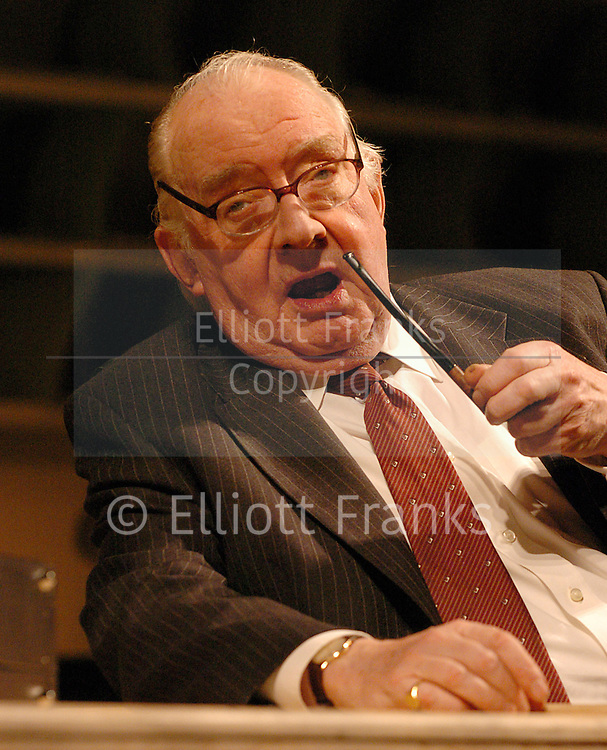 """Veteran British character actor David Ryall, who's best known as """"Harry Potter's"""" Elphias Doge, died on Christmas Day 2014 . He was 79.<br /> <br /> The actor's career spans more than five decades and covers film, TV and theater. His movie credits include 2008's """"City of Ember,"""" 2004's """"Around the World in 80 Days"""" and 1980's """"The Elephant Man.""""<br /> <br /> Ryall replaced Peter Cartwright as Elphias Doge in 2010's """"Harry Potter and the Deathly Hallows Part 1."""" His character was a close friend of Albus Dumbledore in addition to being a Ministry of Magic jurist and an Order of the Phoenix member.<br /> <br /> Most recently, he was perhaps best known on the small screen as Frank — the grandfather who suffers from dementia — in the BBC comedy """"Outnumbered.""""<br /> <br /> <br /> <br /> This picture was from:<br /> <br /> <br /> Democracy <br /> by Michael Frayn<br /> Press Photocall <br /> April16th, 2004 <br /> Wyndham's Theater, London, UK<br /> Photograph by Elliott Franks <br /> <br /> <br /> David Ryall"""