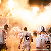 England and New Zealand exit the tunnel before their pool stage match at the 2017 USA Sevens, Round Five of the World Rugby HSBC Sevens Series in Las Vegas, Nevada, March 4, 2017. <br /> <br /> Jack Megaw for USA Sevens.<br /> <br /> www.jackmegaw.com<br /> <br /> jack@jackmegaw.com<br /> @jackmegawphoto<br /> [US] +1 610.764.3094<br /> [UK] +44 07481 764811