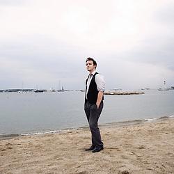Thomas Grenier, etudiant en troisieme annee a la femis, presente son film au Short Film Corner pendant le 62e Festival du film de Cannes. France. 15 May 2009. Photo: Antoine Doyen
