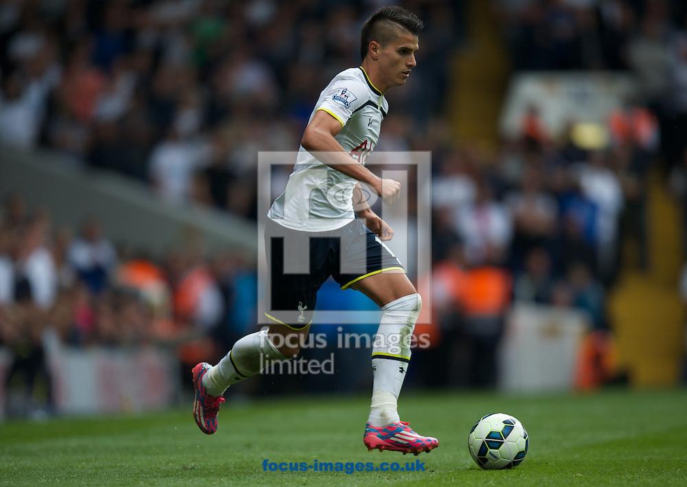Erik Lamela of Tottenham Hotspur during the Barclays Premier League match at White Hart Lane, London<br /> Picture by Alan Stanford/Focus Images Ltd +44 7915 056117<br /> 21/09/2014