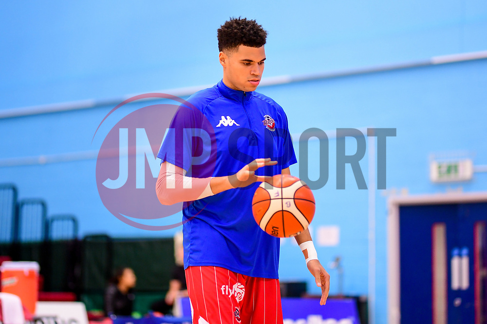 Chris Taylor of Bristol Flyers warms up prior to tip off - Photo mandatory by-line: Ryan Hiscott/JMP - 03/11/2018 - BASKETBALL - SGS Wise Arena - Bristol, England - Bristol Flyers v Newcastle Eagles - British Basketball League Championship
