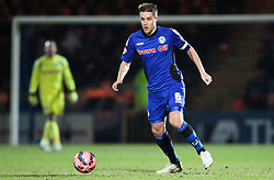 Rochdale's Oliver Lancashire  - Photo mandatory by-line: Matt McNulty/JMP - Mobile: 07966 386802 - 26/01/2015 - SPORT - Football - Rochdale - Spotland Stadium - Rochdale v Stoke City - FA Cup Fourth Round