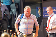 AFC Wimbledon manager Wally Downes arrives for the EFL Sky Bet League 1 match between Sunderland and AFC Wimbledon at the Stadium Of Light, Sunderland, England on 24 August 2019.